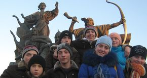 Carpathian pupils love Kyiv with song of payer