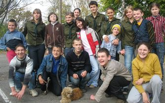 Carpathian pupils thanksful to Kyivan students for scouting workshops